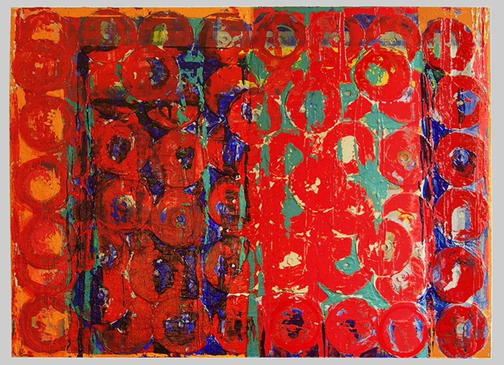 Waste-Not-2001-CDs-and-acrylic-on-canvas-30'-x-40'